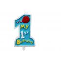 """Świeczka """"My 1st Birthday"""""""