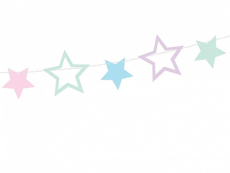 Girlanda Jednorożec - Gwiazdki