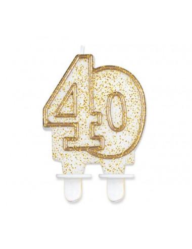 """Świeczka cyferka """"40"""""""