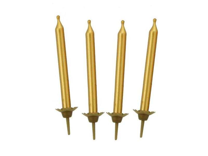 Świeczki urodzinowe złote