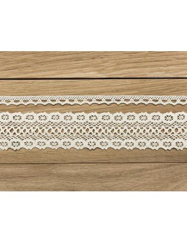 Koronka bawełniana kremowa