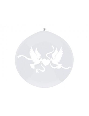 Balon olbrzym przezroczysty z nadrukiem białym