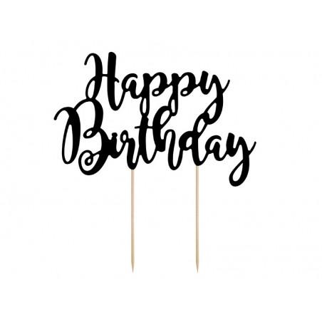 Topper na tort Happy Birthday