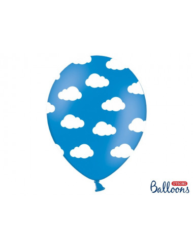 Balony pastelowe chmurki