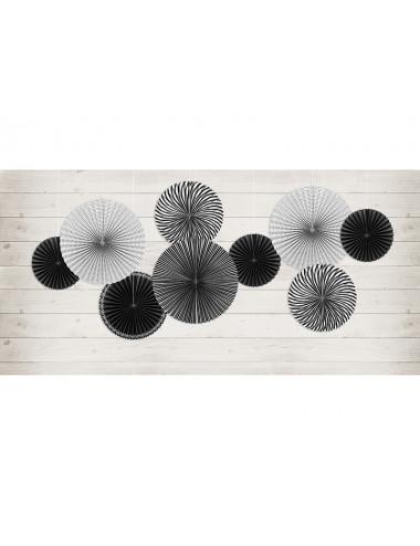 Rozety dekoracyjne Czarno-Białe