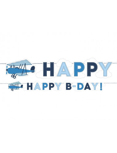 Baner urodzinowy Samolocik